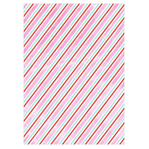 Iridescent Stripe Gift Wrap