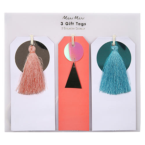 Asst. of 3 Sequin & Tassel Gift Tags