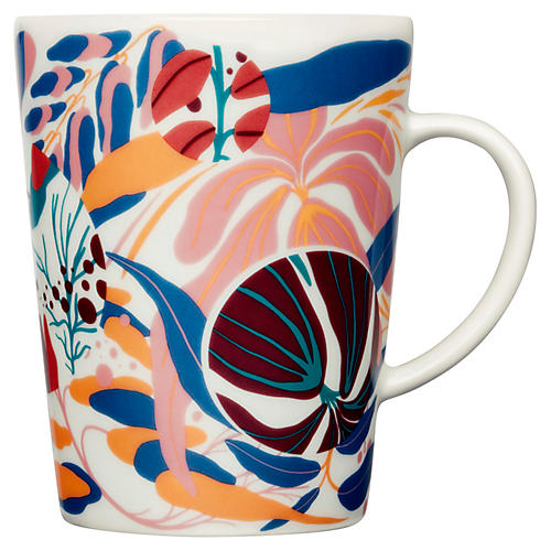 Distortion Mug, White/Multi