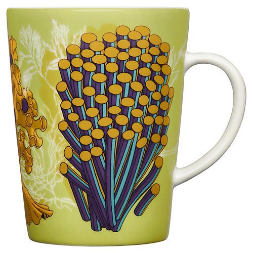 Anemone Mug, Green/Multi