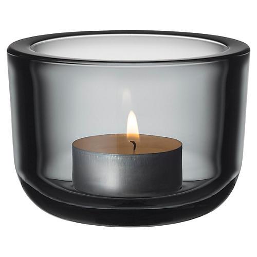 "2"" Valeka Tealight Candleholder, Gray"