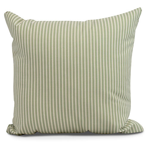 Kinsey Stripe Pillow, Green