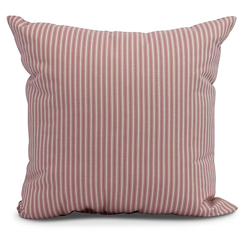 Kinsey Stripe Pillow, Red