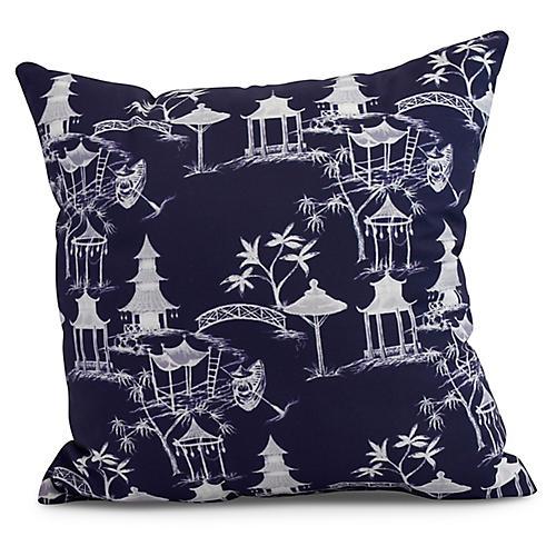 Chinoiserie Pillow, Navy