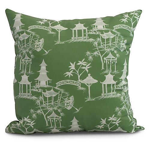 Chinoiserie Pillow, Green