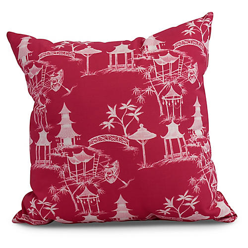 Chinoiserie Pillow, Pink