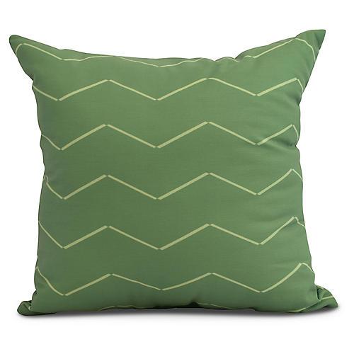 Ocean Waves Pillow, Green