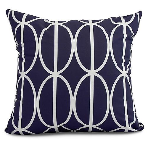 Geometric Pillow, Navy