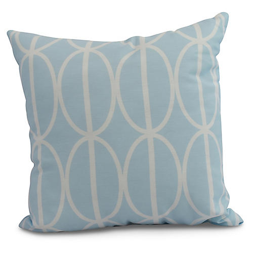Geometric Pillow, Light Blue