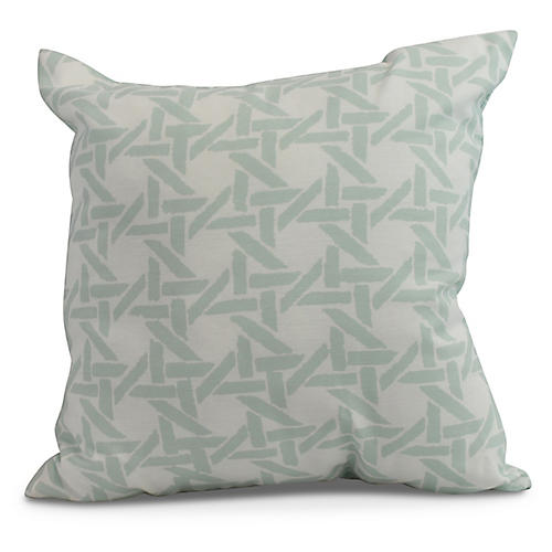 Sugarcane Pillow, Light Blue