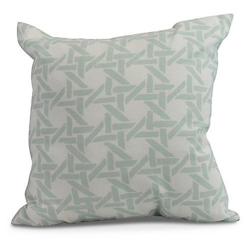 Sugarcane Pillow, Light Blue