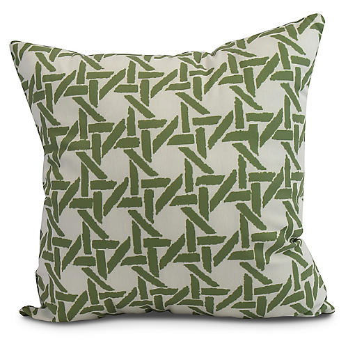 Sugarcane Pillow, Green