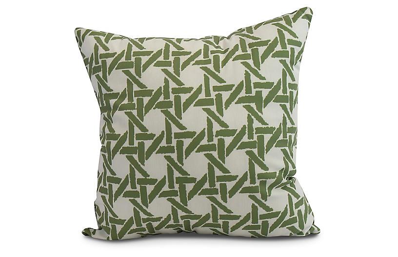Sugarcane Pillow, Green