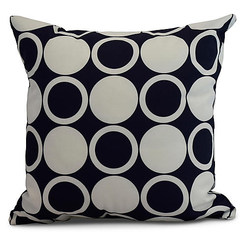 Checkers Pillow, Navy