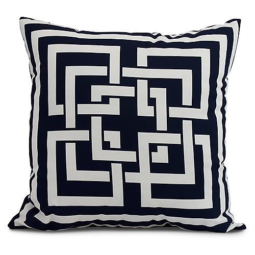 Maze Link Pillow, Navy