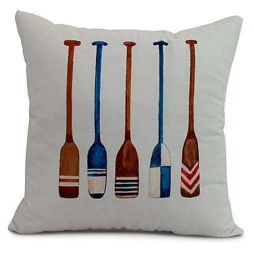 Nautical Oar Pillow, Ivory