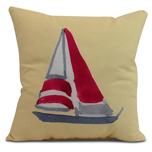 Schooner Pillow, Yellow