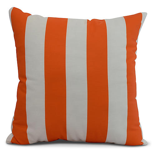 Monaco Stripe Pillow, Orange