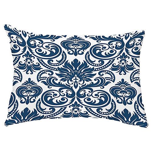 French 14x20 Lumbar Pillow, Blue