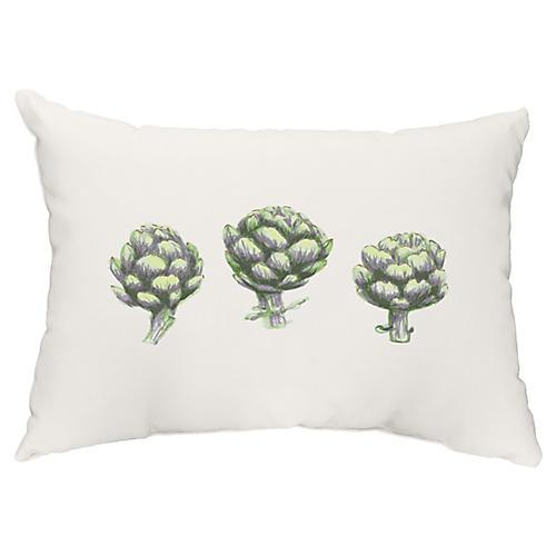 Globe Artichoke 14x20 Lumbar Pillow, Green