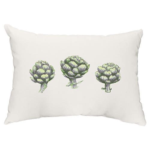 Globe Artichoke 14x20 Lumbar Pillow, Green