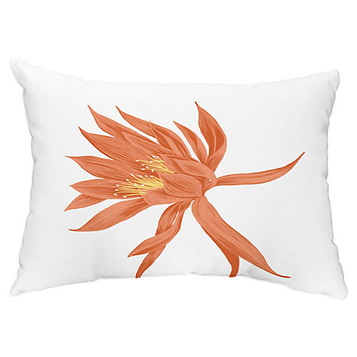 Bloom 14x20 Lumbar Pillow, Orange
