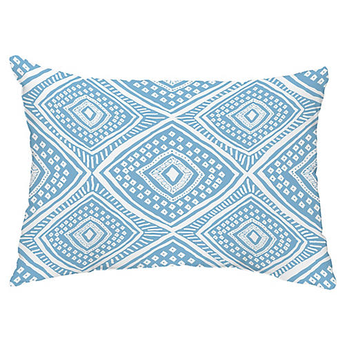 Diamond Eye 14x20 Lumbar Pillow, Light Blue