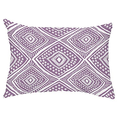 Diamond Eye 14x20 Lumbar Pillow, Purple