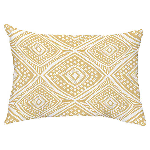 Diamond Eye 14x20 Lumbar Pillow, Gold