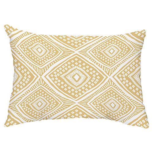Diamond Eye 14x20 Lumbar Pillow, Gold