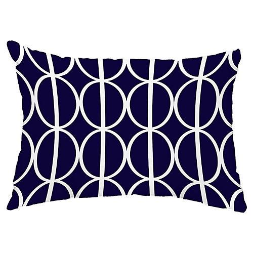 Rings 14x20 Lumbar Pillow, Navy