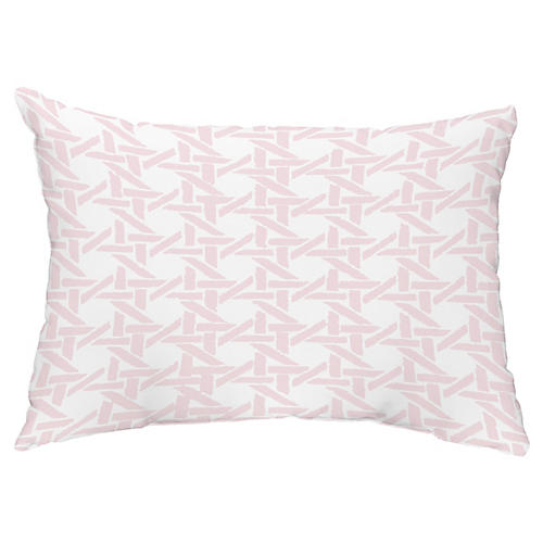 Sugarcane 14x20 Lumbar Pillow, Pink
