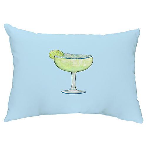 Lime Margarita 14x20 Lumbar Pillow, Pale Blue