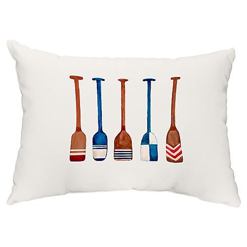 Nautical Oar 14x20 Lumbar Pillow, Ivory