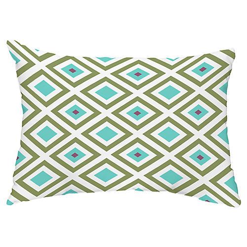 Sea Diamond 14x20 Lumbar Pillow, Aqua