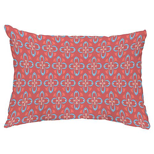 Refined Rustic 14x20 Lumbar Pillow, Coral