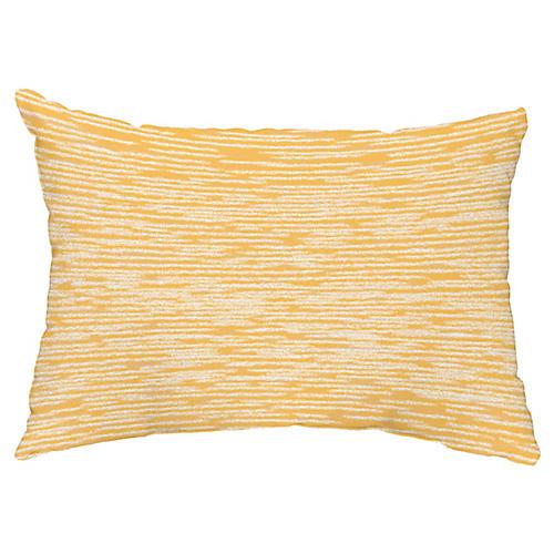 Marled Knit 14x20 Lumbar Pillow, Yellow