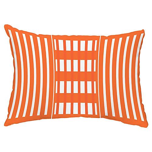Stripe 14x20 Lumbar Pillow, Orange