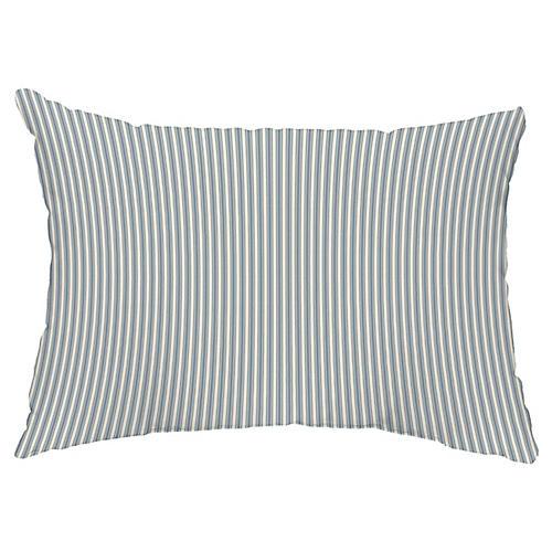 Kinsey Stripe 14x20 Lumbar Pillow, Navy