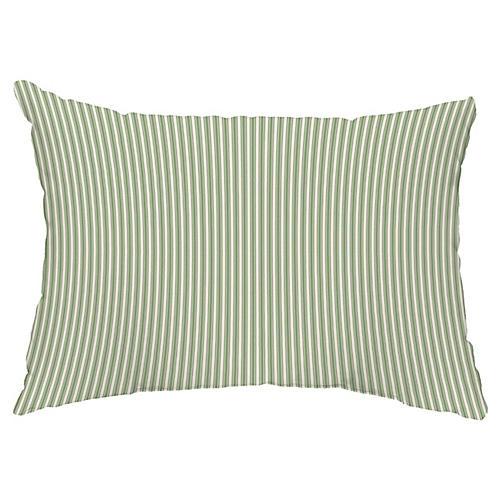 Kinsey Stripe 14x20 Lumbar Pillow, Green