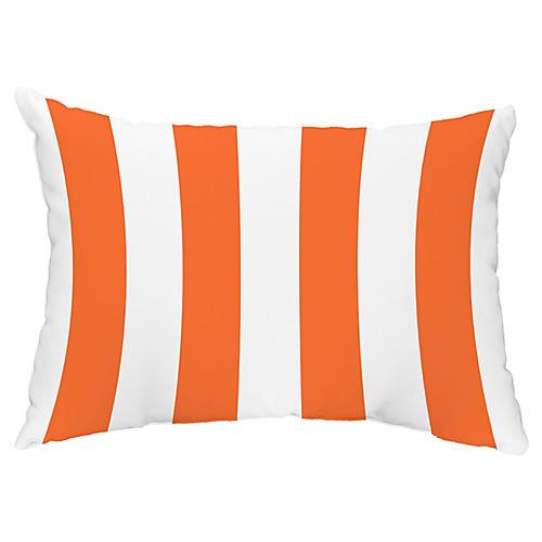 Monaco Stripe 14x20 Lumbar Pillow, Orange
