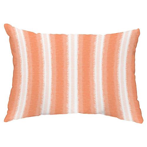 Sea Lines 14x20 Lumbar Pillow, Orange