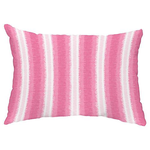 Sea Lines 14x20 Lumbar Pillow, Pink