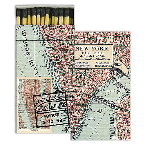 New York Map Match Set, Black/Multi
