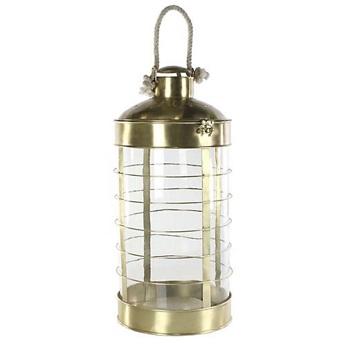"27"" Caserta Grand Lantern, Antiqued Brass"