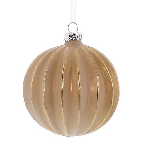 Sphere Ornament, Rose Gold