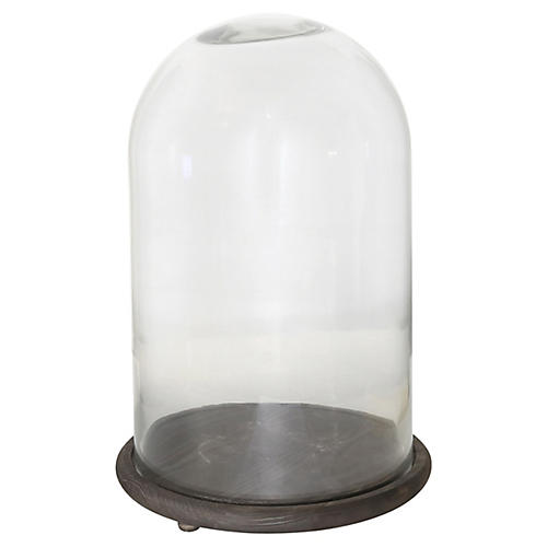 "21"" Northcliff Display Dome w/ Base, Clear/Mocha"