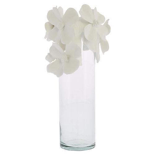 "4"" Bone China Flowering Vase, White"