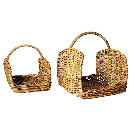 Asst. of 2 Tundra Log Baskets, Natural