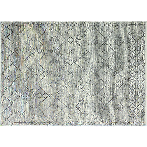 Hobbs Hand-Knotted Rug, Gray